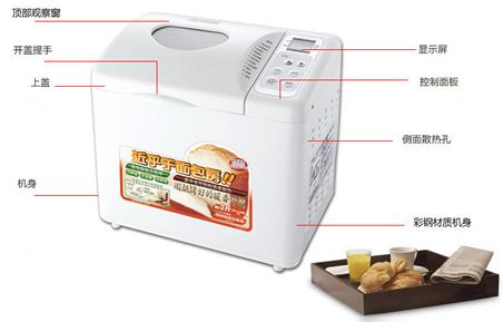 日本双鸟(Twinbird)全自动面包机示意图